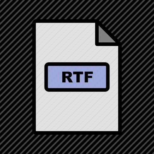 file extension, file format, rtf icon