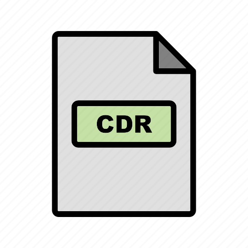 cdr, file, file extension, format icon