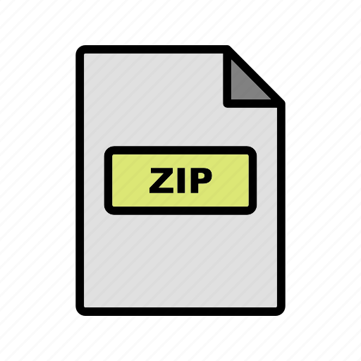 file, file extension, format, zip icon