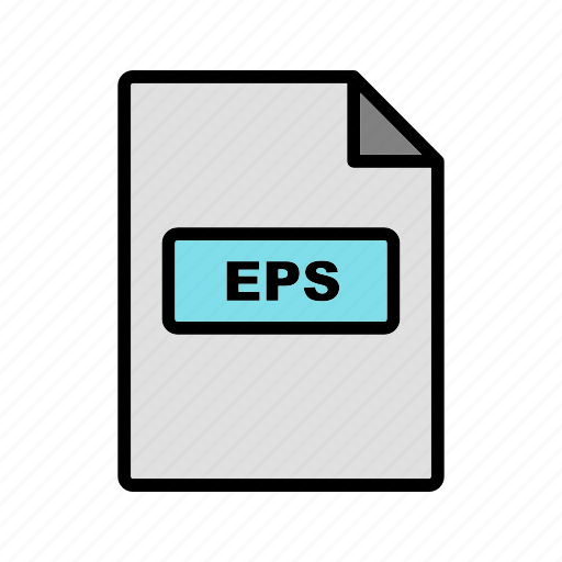 eps, file, file extension, format icon