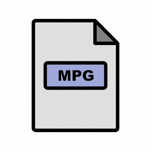 file, file extension, format, mpg icon