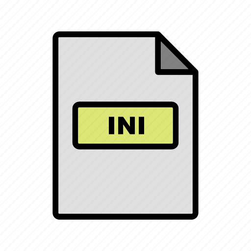 file, file extension, format, ini icon
