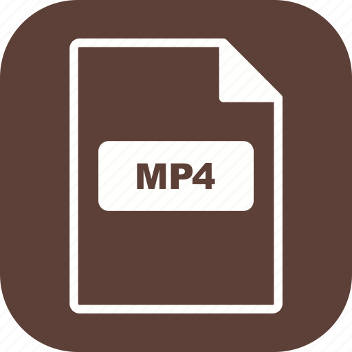 file, file extension, format, mp4 icon