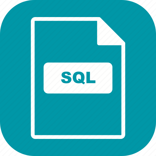 file, file extension, format, sql icon