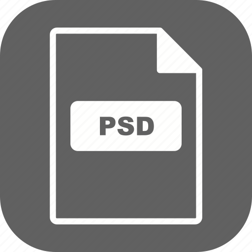 file, file extension, format, psd icon