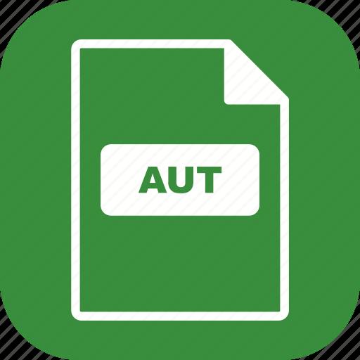 aut, file extension, file format icon