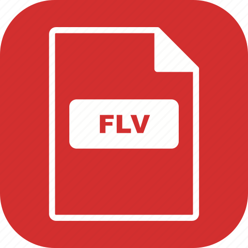 file, file extension, flv, format icon