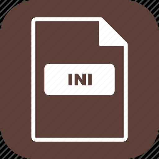 file, file extension, format, ini icon