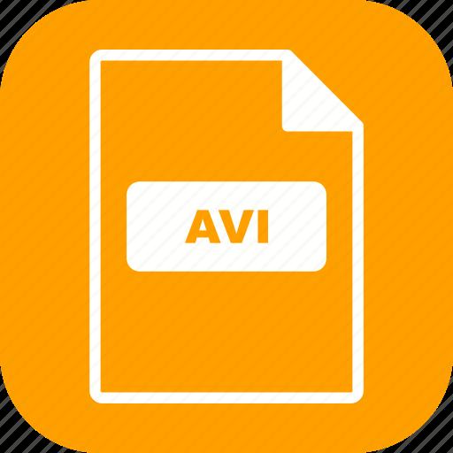 avi, file extension, file format icon