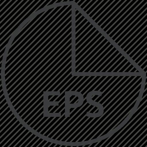 eps, extension, file, format, graphics, postscript icon