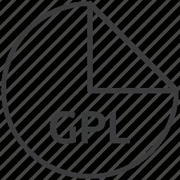 extension, file, format, gpl, palette icon
