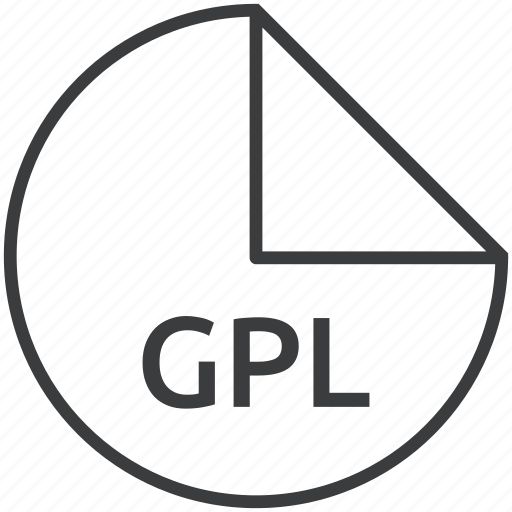 extension, file, format, gpl, palette icon