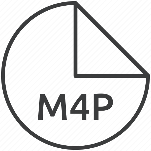 extension, file, format, m4p, multimedia icon