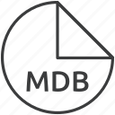 file, format, mdb icon