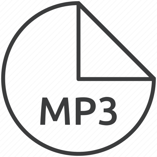 audio, extension, file, format, mp3, multimedia, music icon