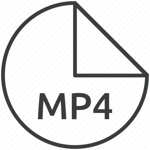 extension, file, format, mp4, multimedia icon