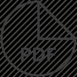 extension, file, format, pdf icon