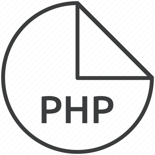 backend, file, format, language, php, scripting icon