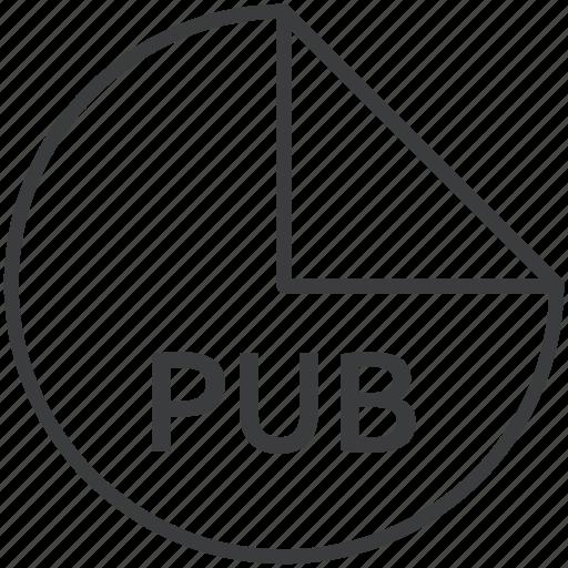 extension, file, format, pub icon