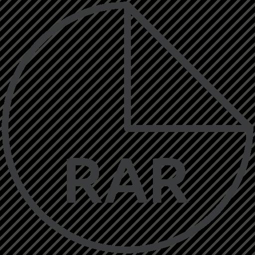 compression, extension, file, format, rar, technique icon