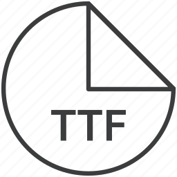 extension, file, font, format, truetype, ttf icon