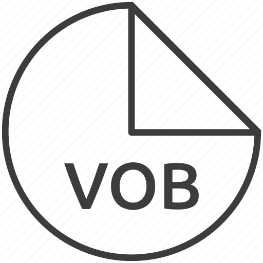 extension, file, format, multimedia, vob icon
