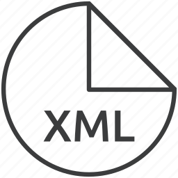 extension, file, format, markup, xml icon