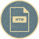 document, file, file extension, file type, htm icon