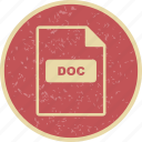doc, file extension, file format icon