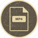 file extension, file format, mp4 icon