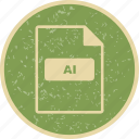 ai, file extension, file format, file type icon