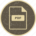 file extension, file format, pdf icon