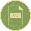 aac, document, file, file extension, file type icon