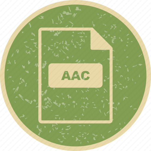aac, file extension, file format icon