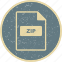 file extension, file format, zip icon