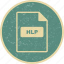 file extension, file format, hlp icon