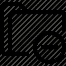 delenote, document, file, folder, minus icon