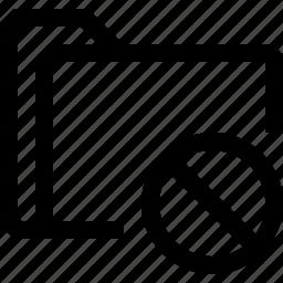 cross, document, file, folder, forbidden icon