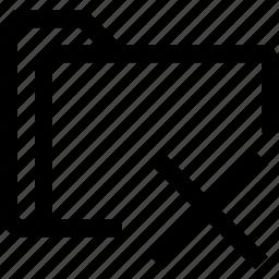cancel, cross, document, file, folder icon