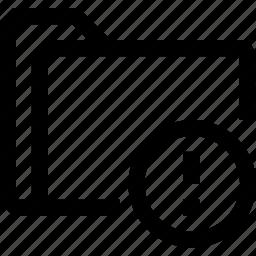 document, exclamation, file, folder, mark, triangle icon