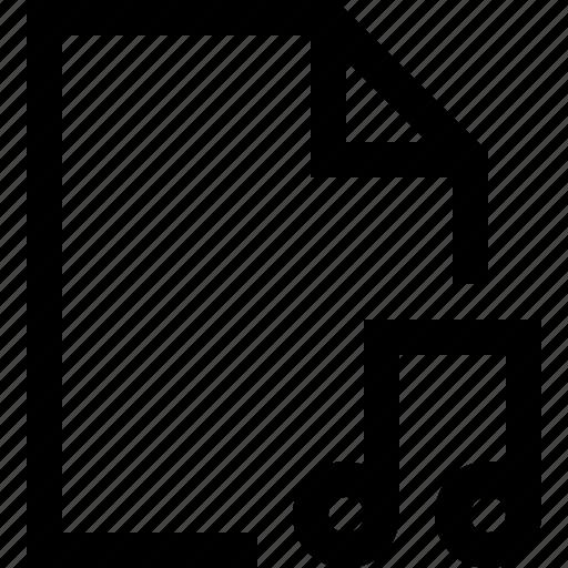 document, file, music, sound icon