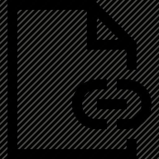 document, file, folder, link icon