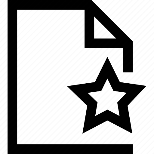 document, favorite, file, folder, star icon