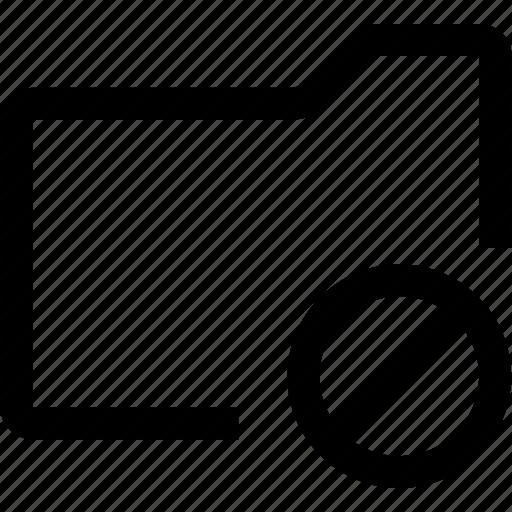 cross, document, file, folder, forbidden, ignore, no icon