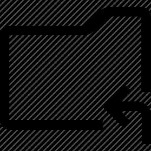 document, enter, file, folder, left, return icon