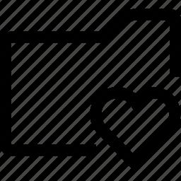 document, favorite, file, folder, hearth icon