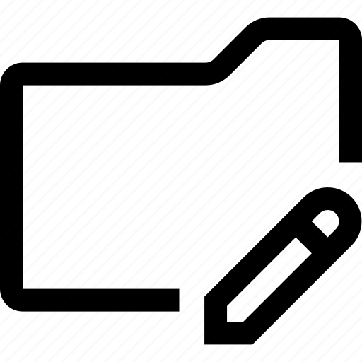 document, edit, file, folder, pen, pencil, write icon