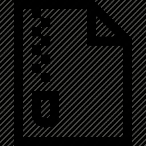 document, file, folder, zip, zip file icon