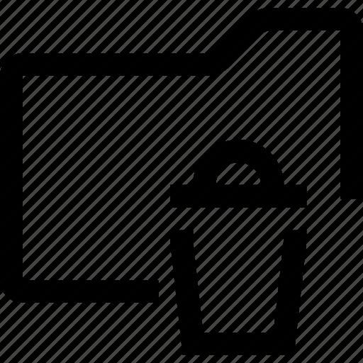 delete, document, file, folder, trashbin icon