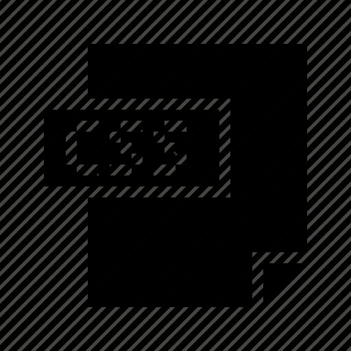 css, filetype, internet, mimetype, stylesheet, web, web design icon